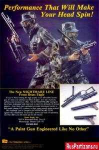 реклама маркеров Brass Eagle inc в журнале APG