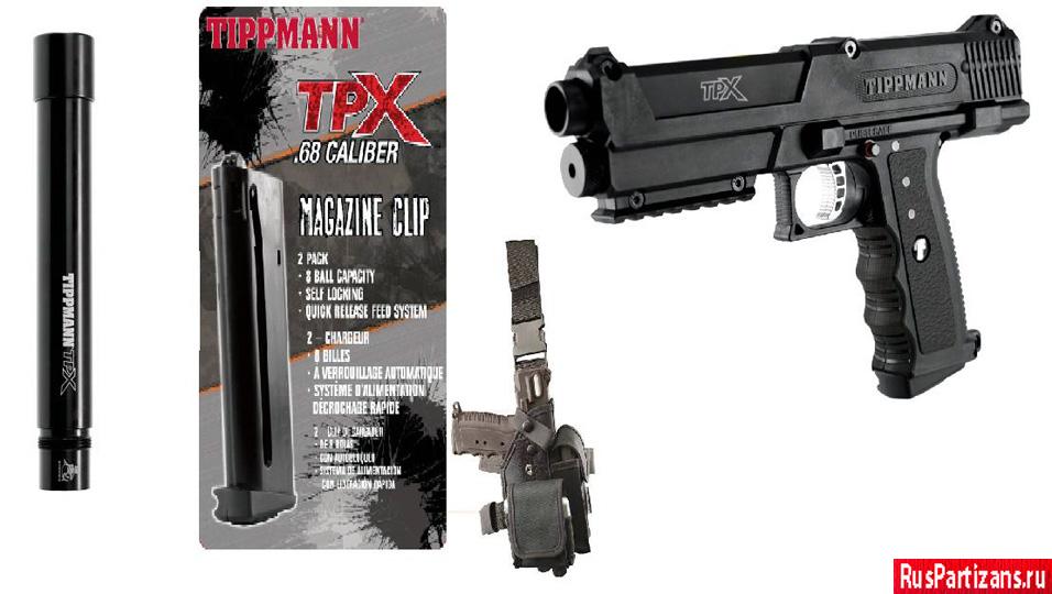 Пистолет Tippmann TPX с амуницией