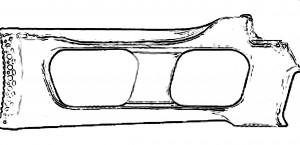 Трафарет приклада ВСС в реальном размере