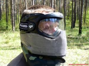Хардбольная защита (модернизированная пейнтбольная маска)