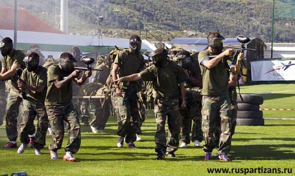 Пейнтбольные тренировки Криштиану Рональду (Cristiano Ronaldo) - фото 4